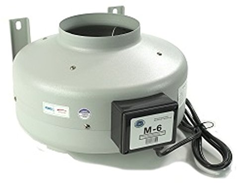 """Tjernlund M-6 Inline Duct Booster Fan, Hydroponic Blower Heat Air Conditioning Vent Exhaust, 460 CFM, 6"""""""