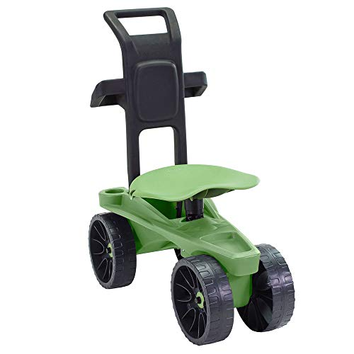 Deluxe Easy Up XTV Rolling Garden Scoot Seat - Adjustable Swivel Seat, Heavy Duty Wheels, and Ergonomic Design To Assist Standing, Sitting or Bending Over | Made in the USA | Model GB2966 (Deluxe XTV)