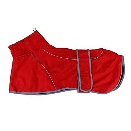 Hundereimantel Leicht zu tragen, damit sich Ihr Welpe wohl fühlt. Das stilvolle Aussehen von Dog Raincoat und die exquisiten Details machen Ihr Haustier cool. Hundereimantel Wasserdicht, geeignet zum Spazierengehen, Joggen und für andere Outdoor-Akti...