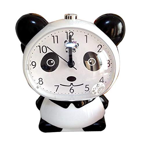 Lorenary Klok Creatieve Leuke Panda Alarm Klok Nacht Llght Cartoon Pratende Tafel Klok voor Kind Student Klok