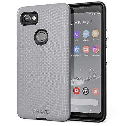 Crave Dual Guard for Google Pixel 2 XL Case, Shockproof Protection Dual Layer Case for Google Pixel 2 XL - Slate