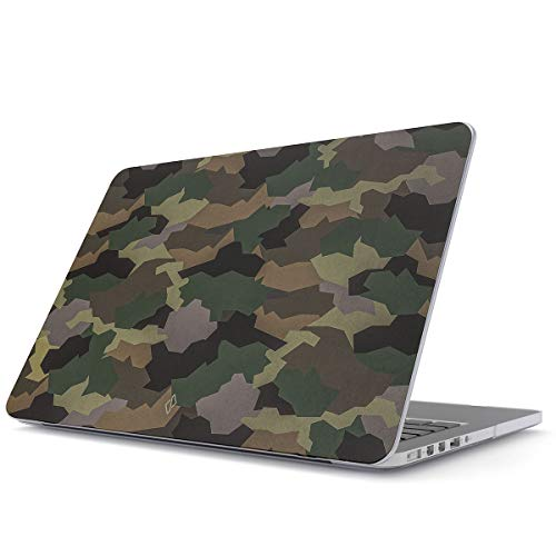 BURGA Hard Case Cover Compatible With Macbook Pro 13 Inch Case Release 2016-2018, Model: A2289 / A2251 With or Without Touch Bar Tropical Army Camo Camouflage