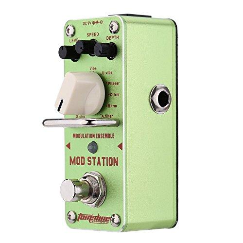 Ammoon AMS-3 Mod Station - Set chitarra elettrica effetto pedale mini con True Bypass