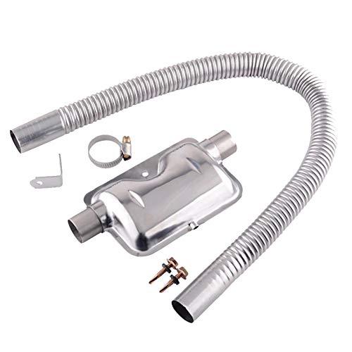 Edelstahl Auspuff Schalldämpfer | 200cm 24mm Standheizung Abgasschlauch Auspuffrohr | Gas Entlüftungsschlauch Für Luft Diesel Auto Heater