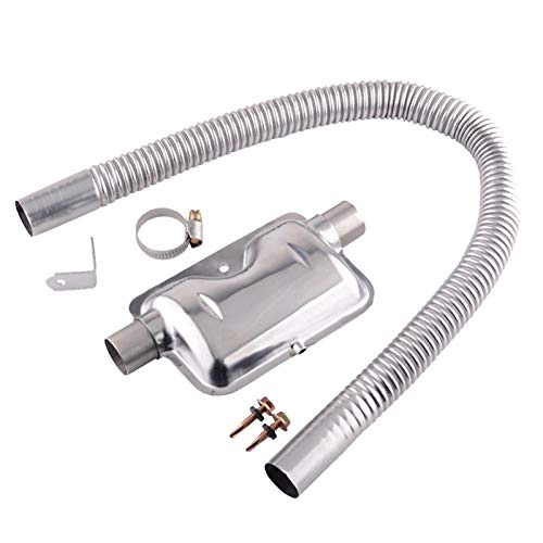Daybreak Edelstahl Auspuff Schalldämpfer | 60/150/200CM 24mm Standheizung Abgasschlauch Auspuffrohr | Gas Entlüftungsschlauch Für Luft Diesel Auto Heater