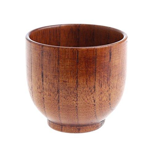 CADANIA Handmade Wooden Cup Hand-Crafted natürliche Holz Tassen Becher Bier Saft Kaffeetassen