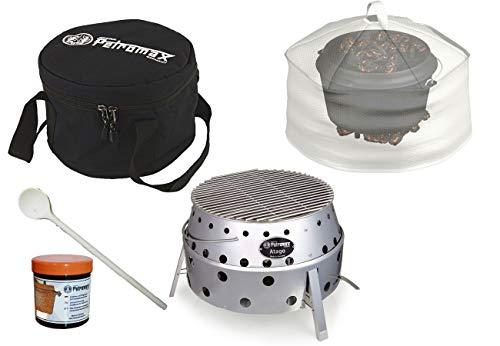 Petromax Set Atago + Kuppel + Tasche + Pflegepaste + Gratis Kochlöffel