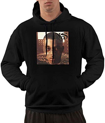 Men's Novelty Hoodies Activewear Top Hoodies Men's Hoody NAS It was Written Comfort Sports Man Hoodie Sweatshirt L