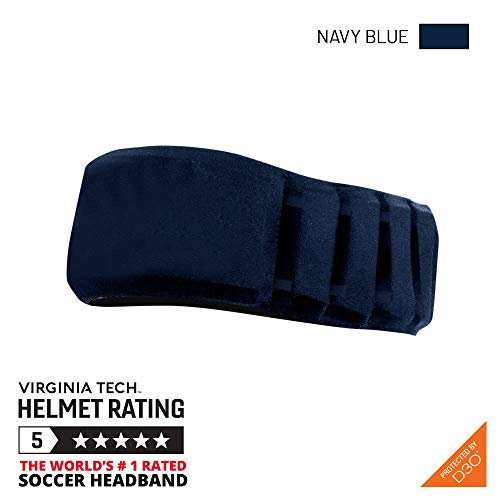Gamebreaker-Aura (Navy, M/L) Protective Soccer Headband, Soccer Equipment, Injury Prevention Headgear, No-Slip Sports Headwear, World's Protective Soccer Headband by Virginia Tech Helmet Labs