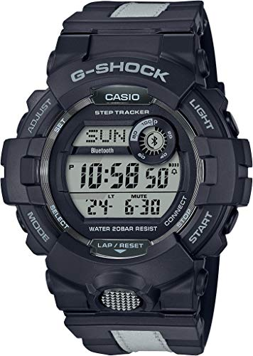 Casio GBD800LU-1 Men's Black/Grey Bluetooth Steptracker Alarm Chronograph G Shock Sports Watch
