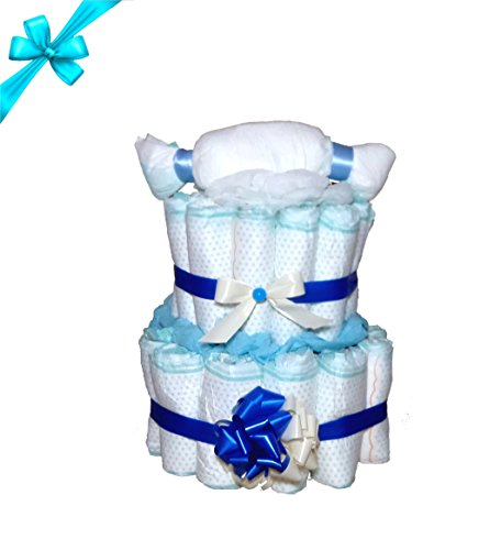 Schöne Windeltorte   Für Jungen   Das perfekte Geschenk zur Geburt & Taufe