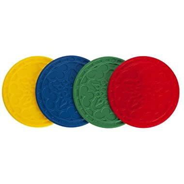 Le Creuset FB512-MC Silicone French Coasters (Set of 4), Multicolor