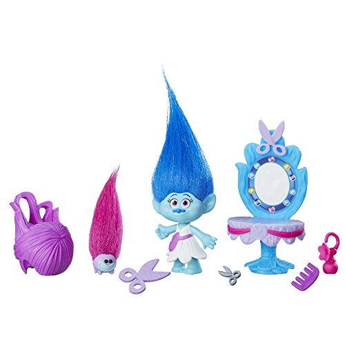 Trolls DreamWorks Maddys Haarstudio – 10 cm große Figur mit flauschigem Haar + Zubehör