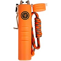 UST TekFire Charge Fuel-Free Lighter with a Lightweight, Rugged Construction, Battery Bank and Emergency Paracord Lanyard for Camping, Backpacking, Hiking and Outdoor Survival