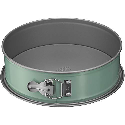 Kaiser EverCream Colors Springform 26 cm rund, Backform mit Flachboden, Kuchenform antihaftbeschichtet, Ever Green, grün