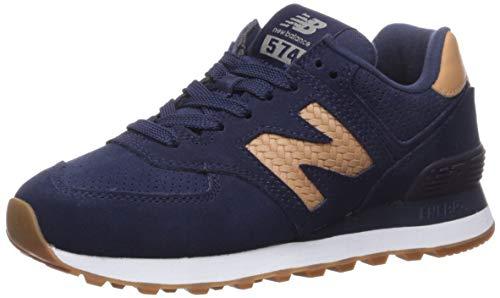 New Balance Women's 574 V2 Sneaker, Pigment/Veg TAN, 12 N US