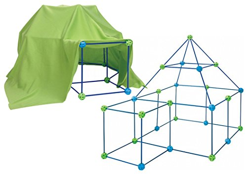 72 Piece Build Your Own Den Kit Childrens Play Construction Fort Tent Making Set