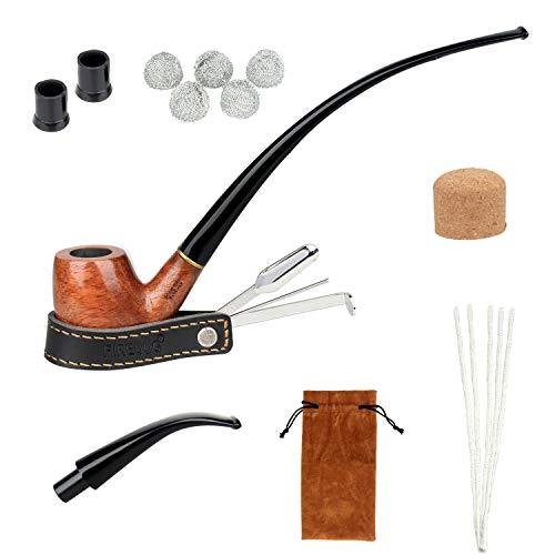 Imagen del productoFIREDOG Kit de tubo de tabaco, 2 en 1 para fumar con limpiador de tuberías, filtros de tubo de 9 mm, soporte para raspador, brocas, bolas de metal, corchos