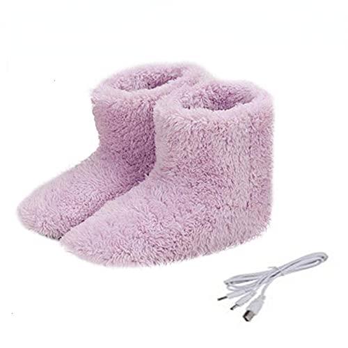 USB calentado pies calientes gruesos Flip Flop calor caliente cuidado de los pies tesoro calentador zapatos invierno calentamiento pad plantillas calefacción caliente 5v calentador FemaleSIZE 35-39
