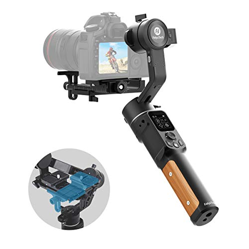 Camera Stabilizer-FeiyuTech Official AK2000C Foldable Release Plate DSLR Stabilizer 3 Axis Camera Gimbal Stabilizer for Canon Sony A7C A7S3 Panasonic Nikon Fujifilm Mirrorless SLR with Wi-Fi/Cable