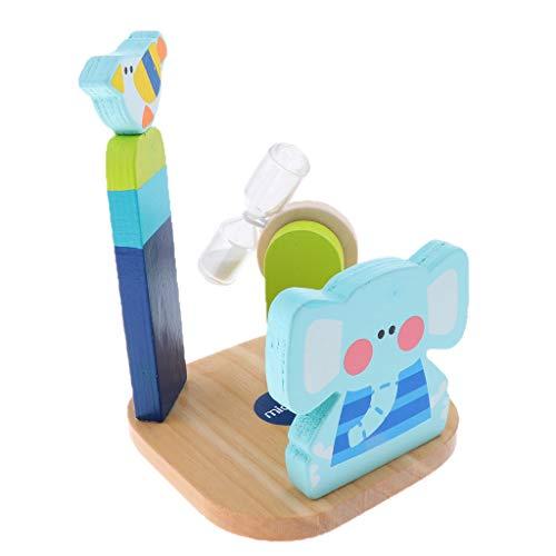 Elefante/Coniglio Set Porta Spazzolino per Bambini con Dentifricio In Silicone con Timer A 3 Minuti - Elefante