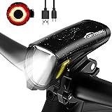 toptrek Fahrradlicht Set 70/30Lux Licht-Modi LED Fahrradbeleuchtung IPX5...