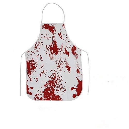 qingy Decoraciones de Halloween Horror Sangre Huella de la Mano Mantel Sangriento Delantal Unisex decoración de la casa de Halloween Accesorios de Miedo Adornos, 12pcs Envoltorio 3
