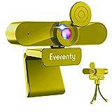 Webcam con microfono 1440P 2K HD 110 Angolo Di Visualizzazione Largo Di Grado Webcam con Clip Regolabile per Laptop,Desktop,