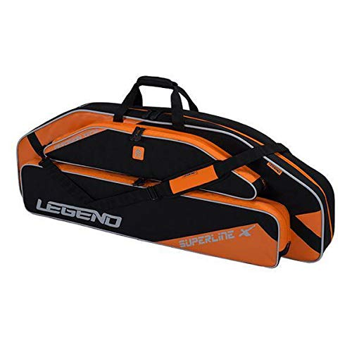 "Legend Superline Compound Bow Soft Case with Protective Padding and Backpack Straps - 44"" Interior Storage for Hunting Accessories, Arrow Tube Holder and Supplies (Orange)"