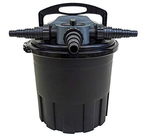AquaForte CBF 12000 Druckteichfilter 12000l 24 Watt UV Klärer mit Rückspülfunktion Druckfilter UVC Lampe Klar Reinigung
