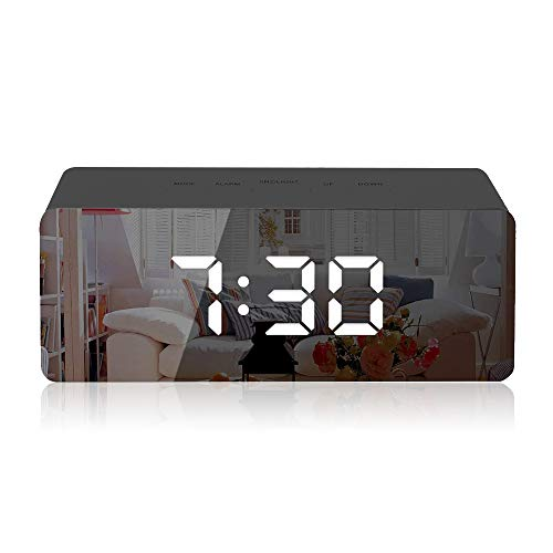 Gaoni Digital Mirror Alarm, LED ...