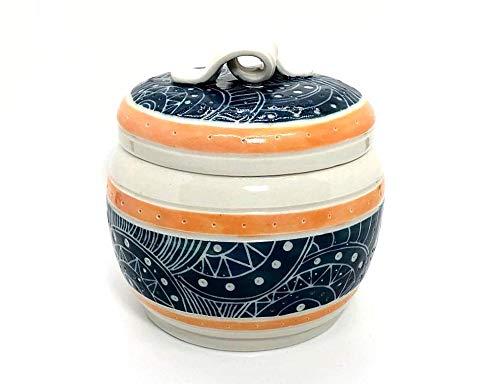 Ceramic Jar with Super intense SALE Lid - Treat San Antonio Mall Candy Gratitude Pet