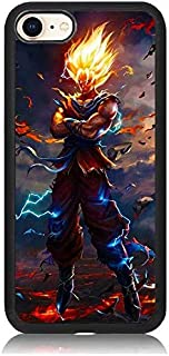 iPhone 7 Plus Case, [Dragon Ball Z Goku Lightning SSJ Series] Print Soft TPU & Hard Back Shock Absorption Scratch Proof Slim Protective Case Cover for iPhone 7 Plus