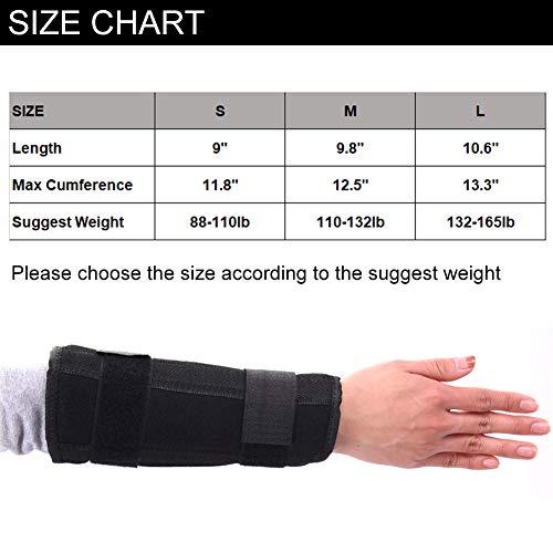 Adjustable Breathable Wrist Forearm Splint, External Fixed Support Forearm Brace Fixing Orthosis for Sprains Arthritis and Tendinitis (M)