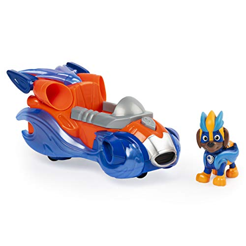 PAW PATROL- Mighty Pups Charged Up Zuma's Deluxe Vehicle with Lights and Sounds Vehículo Zuma con Luces y Sonidos, Multicolor (Spin Master 6056876)