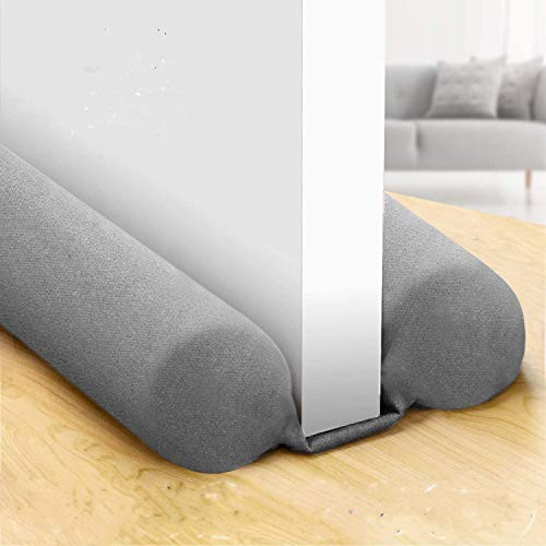 "COXTNBIO 2020 [New Upgrade] Door Draft Stopper, Size 30"" to 38"" Under Door Noise Blocker Door Heat Blocker Door Air Draft Stopper, Energy Saving(New Upgrade Grey)"