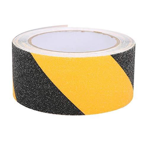 50mm x 5m PVC Negro Amarillo Cinta antideslizante Esmerilado Impermeable Piso Advertencia Advertencia Precaución Cintas adhesivas