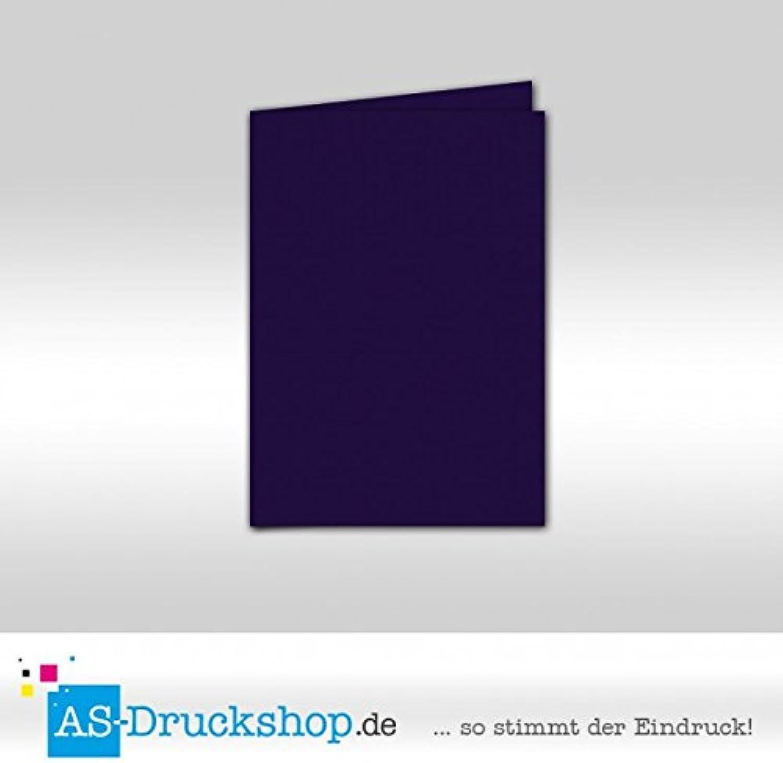 Faltkarte Doppelkarte - lilat - Samt satiniert 50 Stück DIN B6 B0794Y62C8   | Erschwinglich