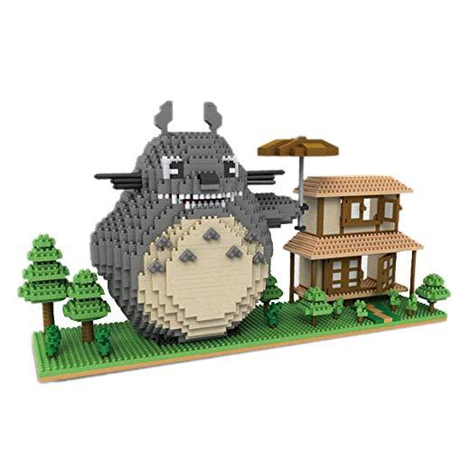 VSUK Bausteine Anime Charakter Wissen Totoro Stressabbauer Modell Baustein Set 2107+PCS Nano Mini Blocks DIY Spielzeug, 3D Puzzle DIY Lernspielzeug, Einfach Zu Greifen, Thanksgiving Halloween