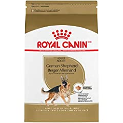 Royal Canin German Shepherd Adult dry dog food is designed to meet the nutritional needs of purebred German Shepherds 15 months and older Exclusive kibble shape designed specifically for a German Shepherd's long, strong muzzle to encourage chewing Ai...