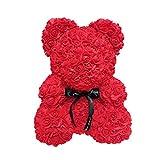 Surenhap Ours Teddy Rose Cadeau De Décoration PE de 25cm de l'ours de Fleur de Roses pour Le Cadeau de Valentines de Femmes