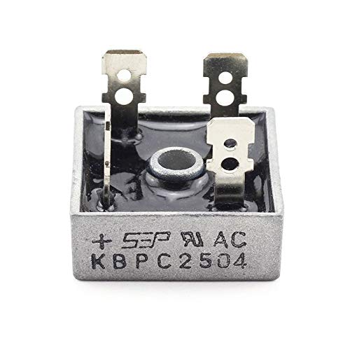 Tegg 1-Pack KBPC2504 Bridge Rectifier Diode DIP-4 25A Single Phase Square Electronic Component