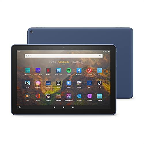 Das neue Fire HD 10-Tablet   25,6 cm (10,1 Zoll) großes Full-HD-Bildschirm (1080p), 32 GB, blau – mit Werbung