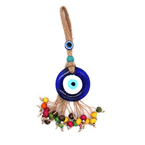 bobvc sleutelhanger sleutelhanger gevlochten touw auto sleutelhanger handtas blauw turks oog hanger sleutelhanger mode sieraden voor vrouwen mannen
