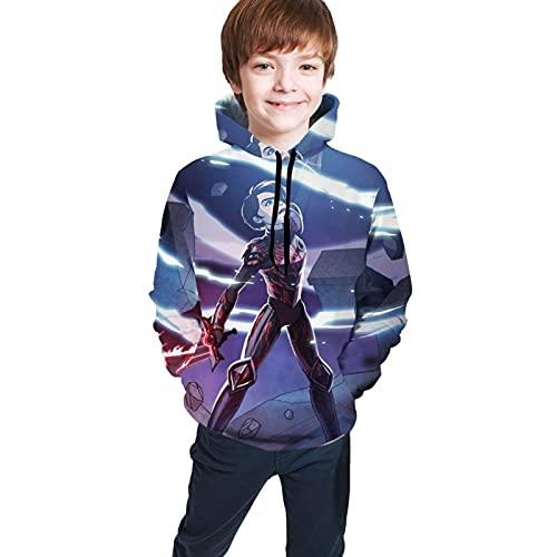 VJSDIUD Sudaderas Tops Hooded Trollhunters_14 Hoodie Cute Cartoon Sweater for Teenager Chirldren Boys&Girls