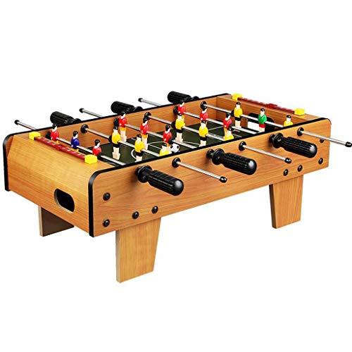 Macchina da calcio balilla in legno, tavoli da gioco da calcio per interni ed esterni per bambini e adulti possono essere utilizzati per tavoli da gioco per l'intrattenimento familiare, Giallo, 50X45X