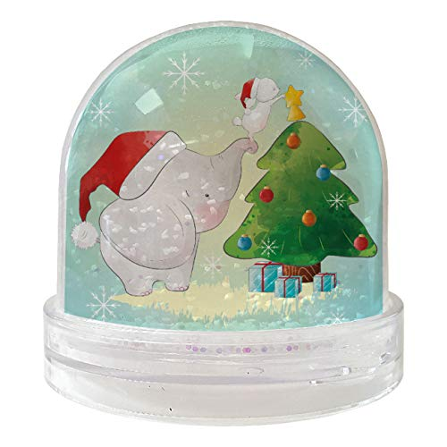My Custom Style Boules Globes de Neige Mixtes : # Noël à # 9 x 9 cm Con Cuori Natale - Elefantino