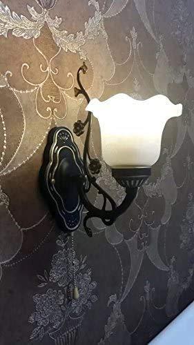 ENOLLA lámpara de Pared de jardín Europea con Cabeza de Metal Retro Antigua, Sala de Estar de Dormitorio con un Solo Interruptor Pared de Hierro/Comedor