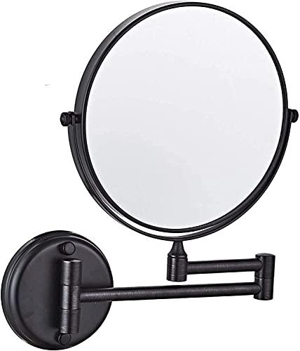 HYZXK Espejo para Maquillaje, rotación de 360 °, 8 Inc. Espejo de Afeitar con Aumento Espejo de baño Extensible de Doble Cara
