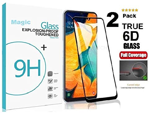 MagicDeal Edge to Edge Cover Tempered Glass for Samsung A31/M21/M31/M30S/M30/A50/A20/A30 6D Curved Screen Guard Protector for Samsung A31/M21/M31/M30S/M30/A50/A30/A20